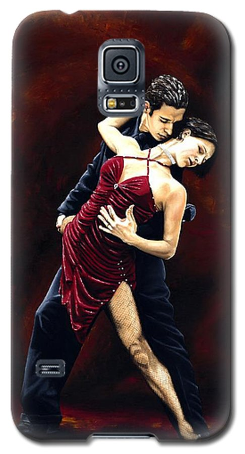 Tango Galaxy S5 Case featuring the painting The Passion Of Tango by Richard Young