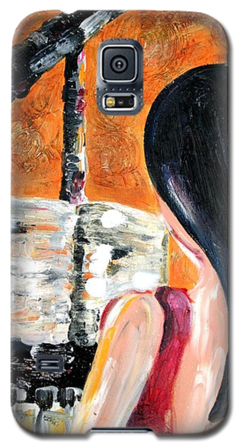 Piano Galaxy S5 Case featuring the painting The Pianist by Maryn Crawford