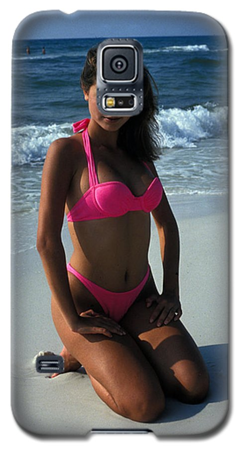 Attractive Galaxy S5 Case featuring the photograph The Pink Bikini by Carl Purcell