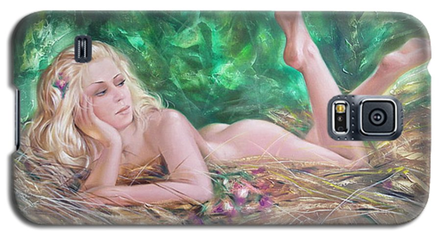 Ignatenko Galaxy S5 Case featuring the painting The Pretty Summer by Sergey Ignatenko