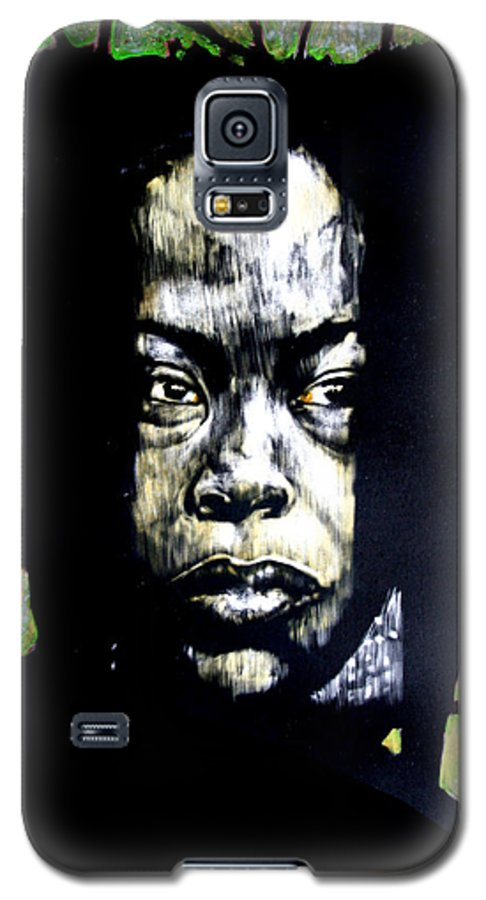 Portraits Galaxy S5 Case featuring the mixed media The Promise Of Spring by Chester Elmore