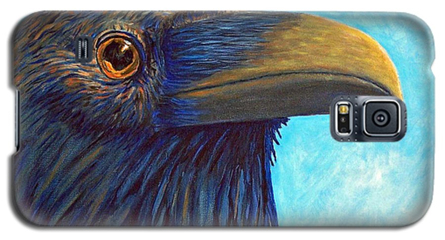 Raven Galaxy S5 Case featuring the painting The Prophet by Brian Commerford