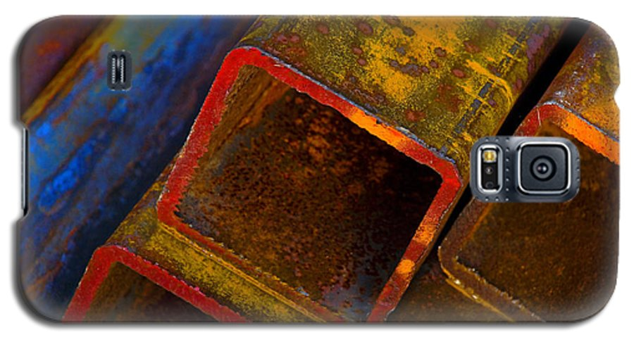 Abstract Galaxy S5 Case featuring the photograph The River by Skip Hunt
