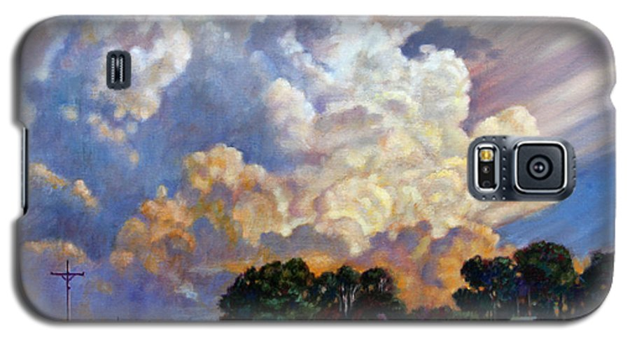 Landscape Galaxy S5 Case featuring the painting The Road Home by John Lautermilch
