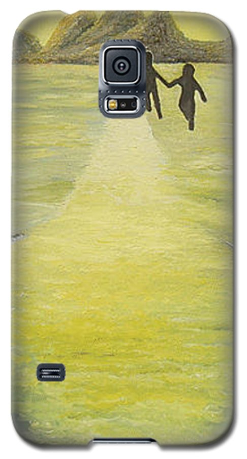 Soul Galaxy S5 Case featuring the painting The Road In The Ocean Of Light by Karina Ishkhanova