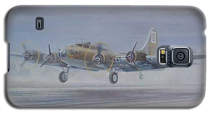 The Only Survivor Of The 100th Bomb Group On The October 10 Galaxy S5 Case featuring the painting The Royal Flush Comes Home by Scott Robertson