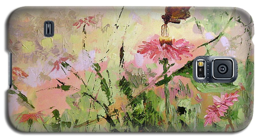 Butterflies Galaxy S5 Case featuring the painting The Seeker by Ginger Concepcion