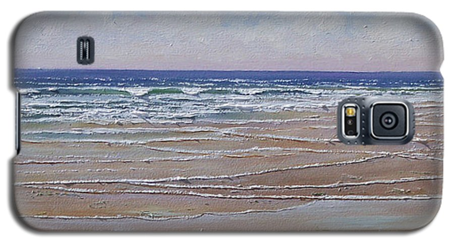 Seascape Galaxy S5 Case featuring the painting The Shell Collector by Frank Wilson