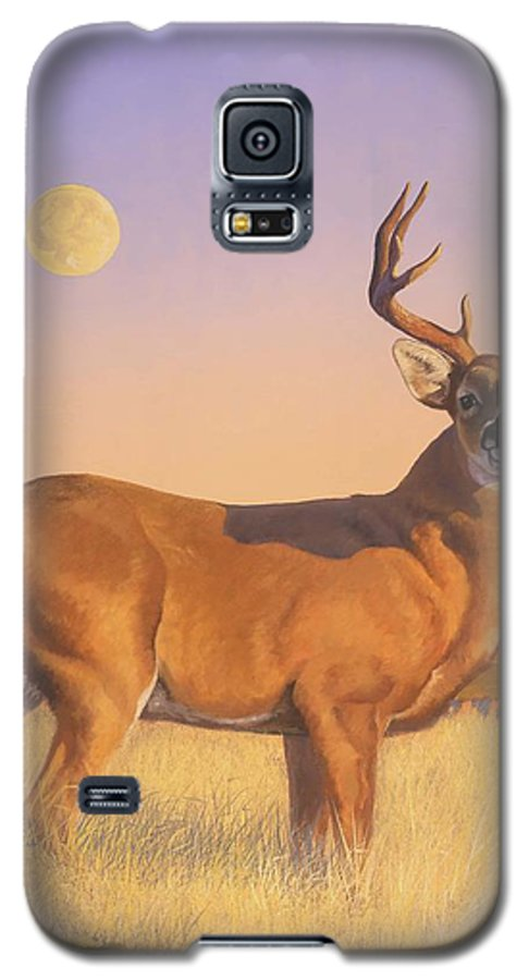 Deer Galaxy S5 Case featuring the painting The Stag by Howard Dubois