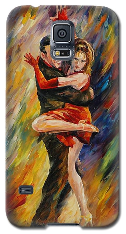 Dance Galaxy S5 Case featuring the painting The Sublime Tango by Leonid Afremov