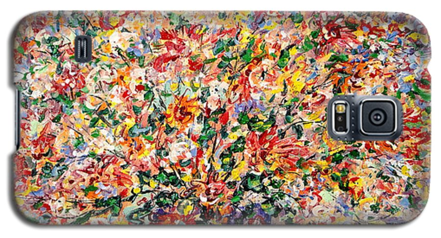 Flowers Galaxy S5 Case featuring the painting The Sunlight Flowers by Leonard Holland