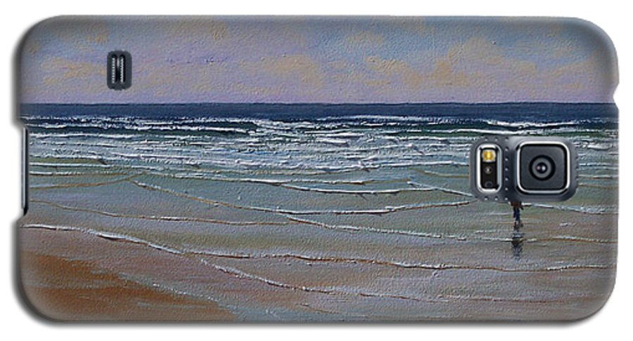 Seascape Galaxy S5 Case featuring the painting The Surf Walker by Frank Wilson