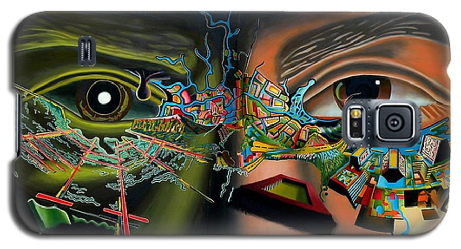 Surreal Galaxy S5 Case featuring the painting The Surreal Bridge by Dave Martsolf
