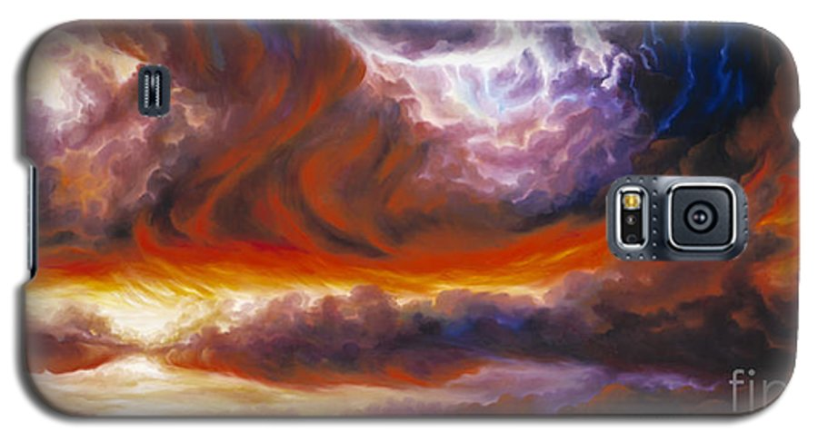 Tempest Galaxy S5 Case featuring the painting The Tempest by James Christopher Hill
