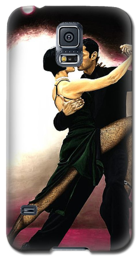 Tango Galaxy S5 Case featuring the painting The Temptation Of Tango by Richard Young