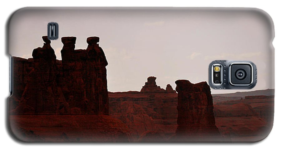 Landscape Galaxy S5 Case featuring the photograph The Three Gossips Arches National Park Utah by Christine Till
