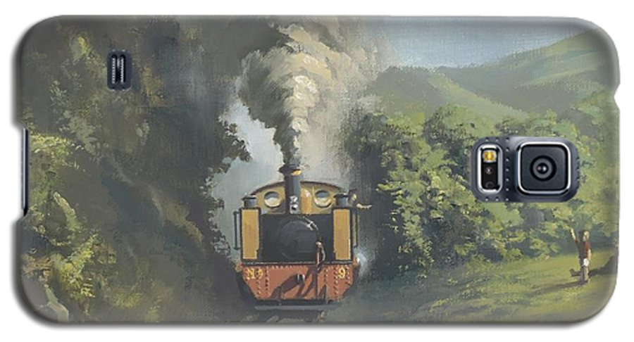 Steam Galaxy S5 Case featuring the painting The Vale Of Rheidol Railway by Richard Picton