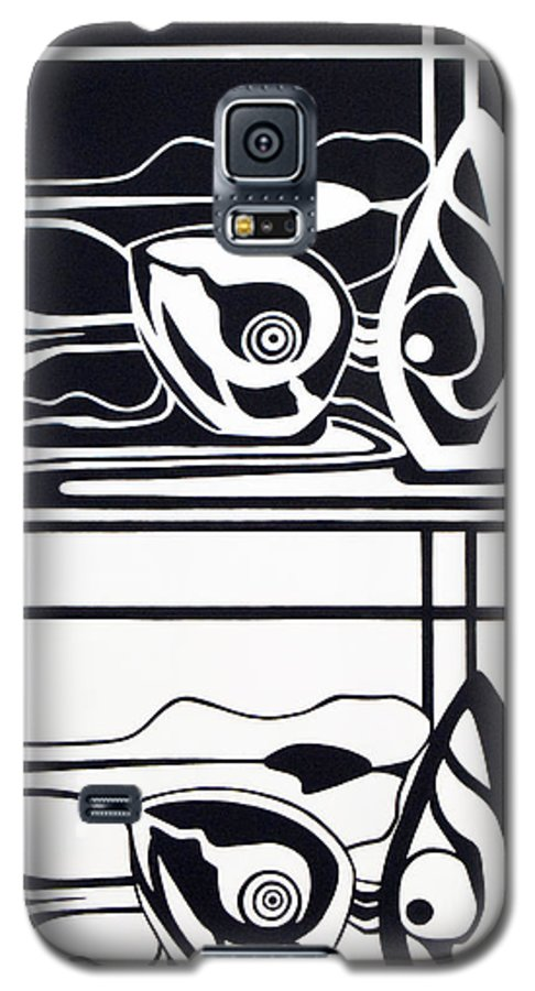 Avocadoe Galaxy S5 Case featuring the painting The Very Still Life Of An Avocado by Judy Henninger