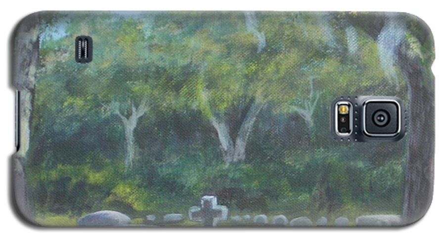 Landscape Cemetary Ghost Tree Florida Orlando Greenwood Galaxy S5 Case featuring the painting The Visitor 75usd by Karen Bowden
