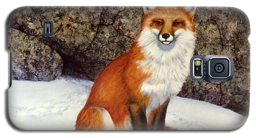 Wildlife Galaxy S5 Case featuring the painting The Wait Red Fox by Frank Wilson