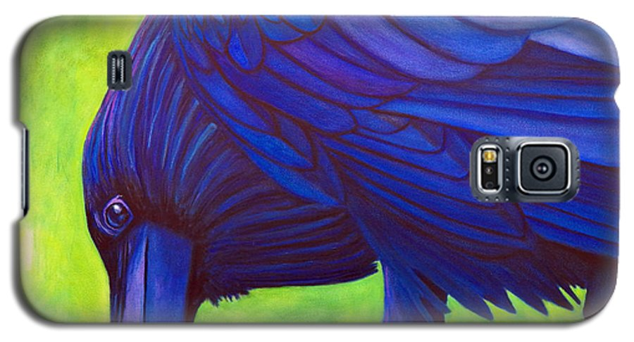 Raven Galaxy S5 Case featuring the painting The Witness by Brian Commerford