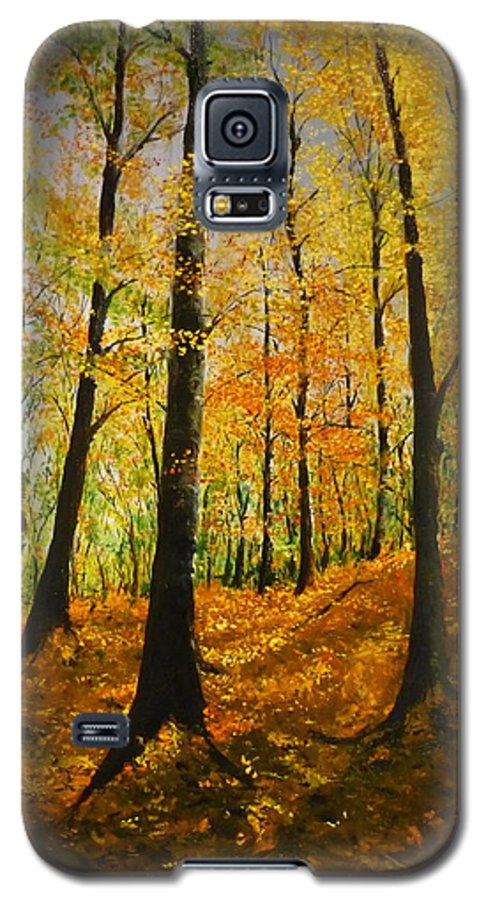 Fall Galaxy S5 Case featuring the painting The Wood For The Trees by Lizzy Forrester