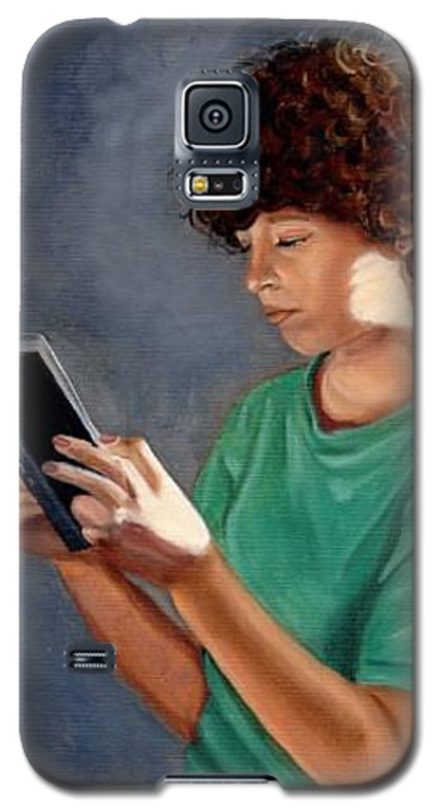 Portrait Galaxy S5 Case featuring the painting Thirst For Knowledge by Toni Berry