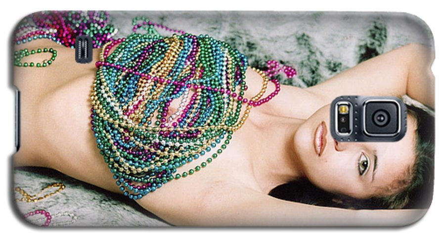 Female Artistic Nude Galaxy S5 Case featuring the photograph Those Eyes by Tom Hufford