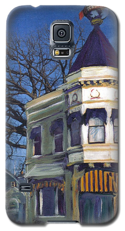 Miexed Media Galaxy S5 Case featuring the mixed media Three Brothers by Anita Burgermeister
