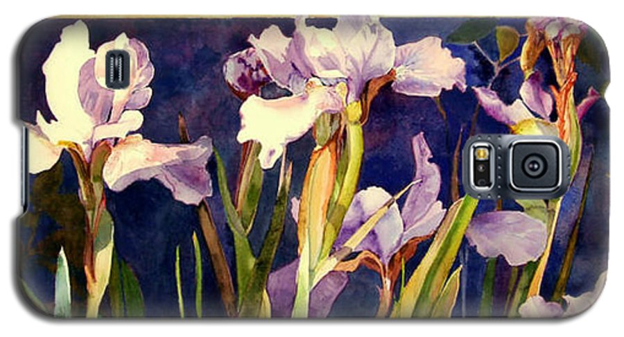 Irises Galaxy S5 Case featuring the painting Three Gossips by Linda Marie Carroll