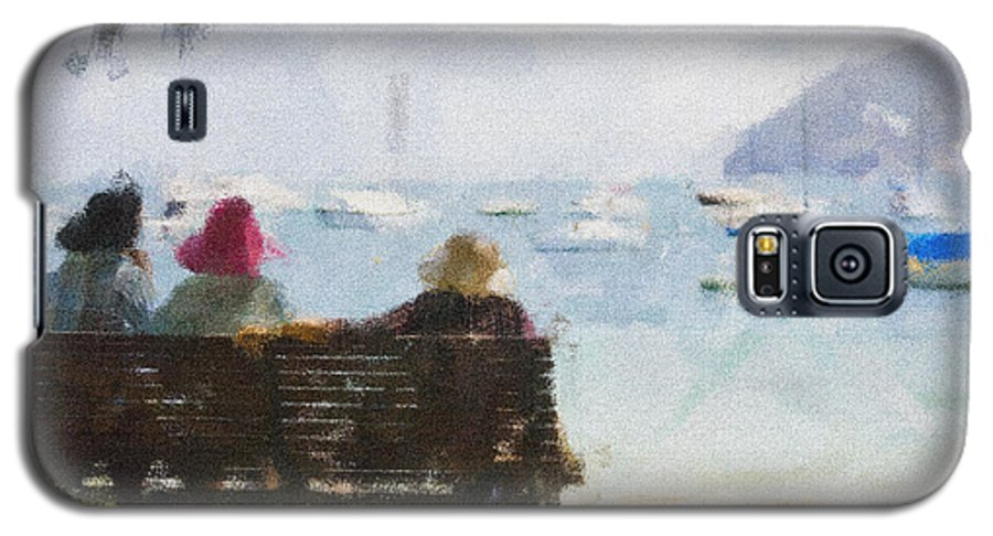 Impressionism Impressionist Water Boats Three Ladies Seat Galaxy S5 Case featuring the photograph Three Ladies by Sheila Smart Fine Art Photography