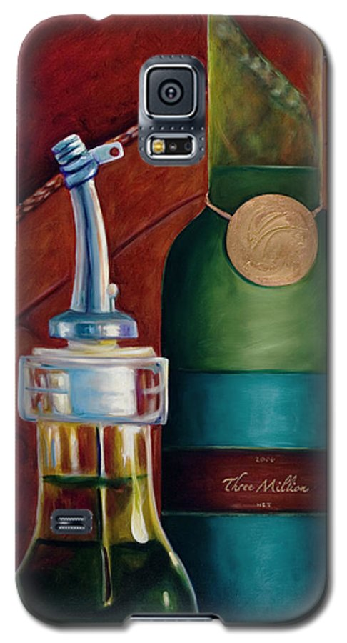 Olive Oil Galaxy S5 Case featuring the painting Three Million Net by Shannon Grissom
