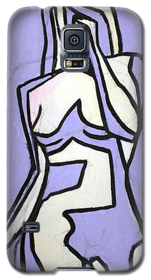 Nudes Galaxy S5 Case featuring the painting Three by Thomas Valentine