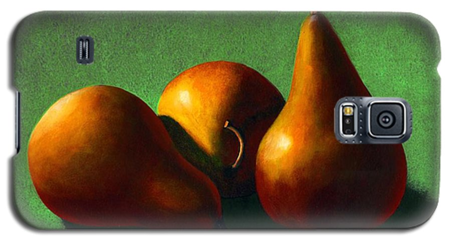 Still Life Galaxy S5 Case featuring the painting Three Yellow Pears by Frank Wilson