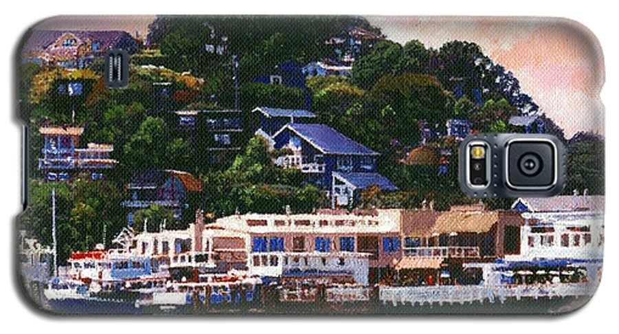 Landscape Galaxy S5 Case featuring the painting Tiburon California Waterfront by Frank Wilson