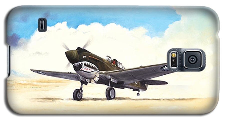 Aviation Galaxy S5 Case featuring the painting Tiger Scramble by Marc Stewart