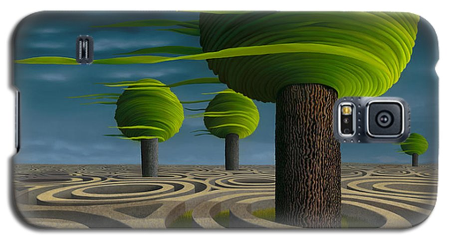 Tree Galaxy S5 Case featuring the painting Tilia Arbora by Patricia Van Lubeck