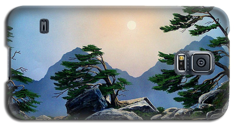 Timberline Guardians Galaxy S5 Case featuring the painting Timberline Guardians by Frank Wilson