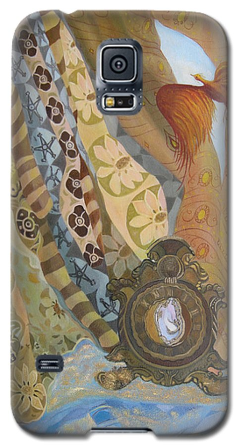 Still Life Galaxy S5 Case featuring the painting Time by Antoaneta Melnikova- Hillman