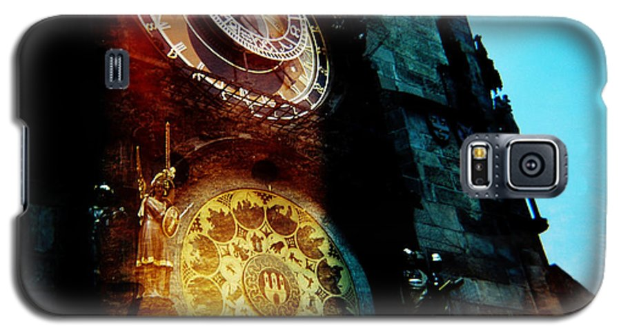 Clock Time Holga Color Photograph Praha Galaxy S5 Case featuring the photograph Time Is Burning by Olivier De Rycke