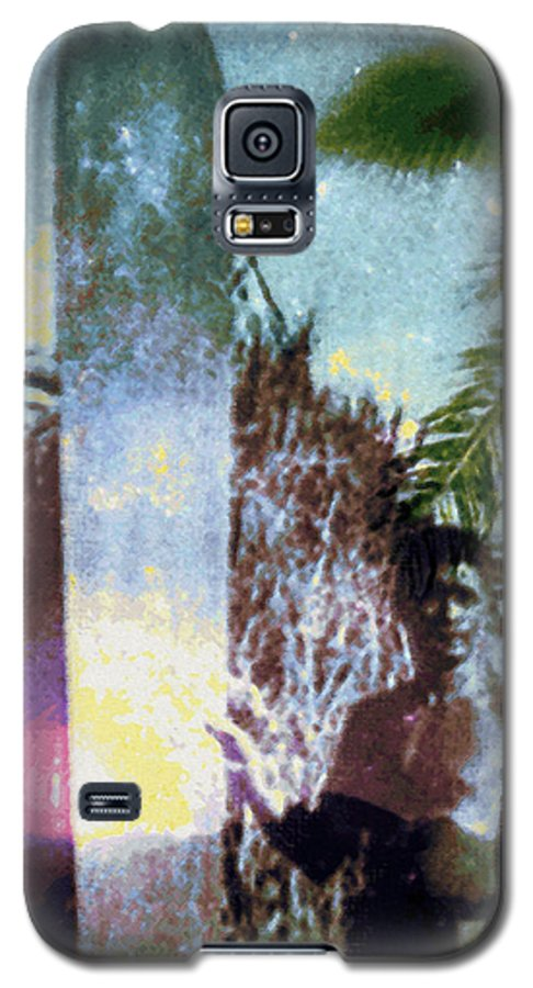 Tropical Interior Design Galaxy S5 Case featuring the photograph Time Surfer by Kenneth Grzesik