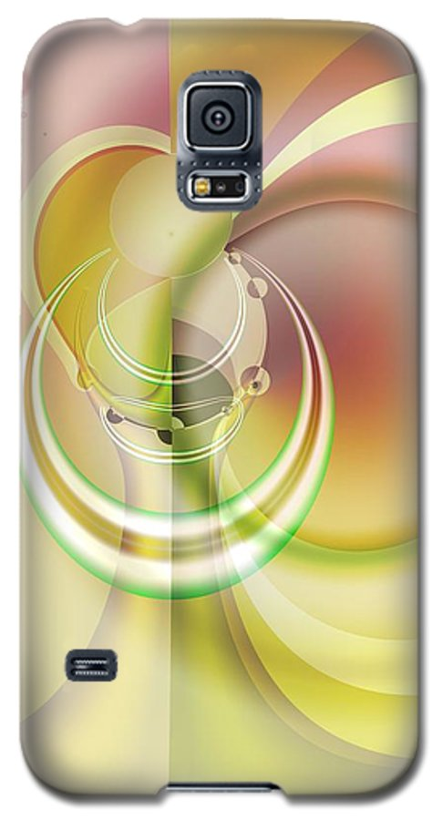Fractal Galaxy S5 Case featuring the digital art Time Warp Revisited by Frederic Durville