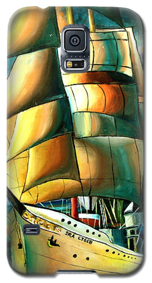 Ship Galaxy S5 Case featuring the drawing Timeless by Darcie Duranceau