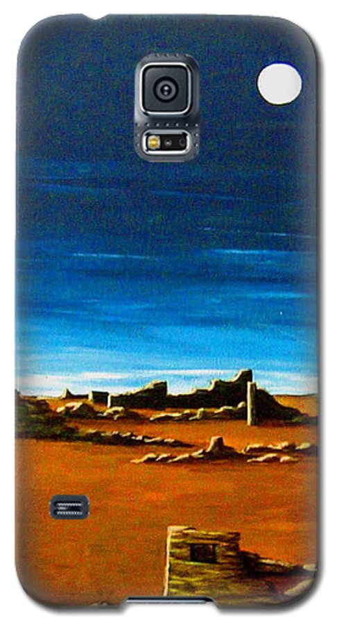 Anasazi Galaxy S5 Case featuring the painting Timeless by Diana Dearen