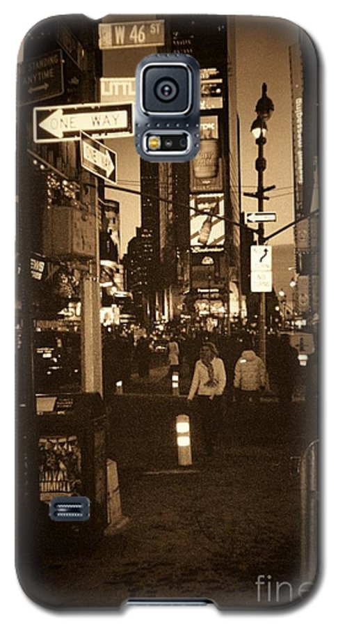 New York Galaxy S5 Case featuring the photograph Times Square by Debbi Granruth