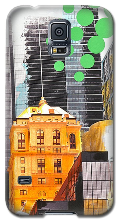 Ny Galaxy S5 Case featuring the painting Times Square Ny Advertise by Jean Pierre Rousselet