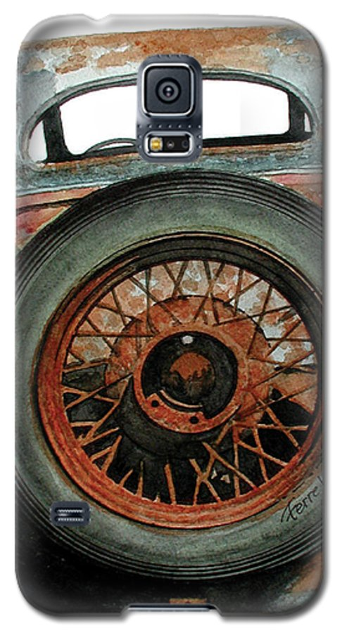 Car Galaxy S5 Case featuring the painting Tired by Ferrel Cordle