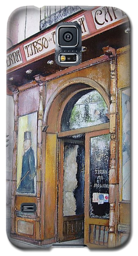 Tirso Galaxy S5 Case featuring the painting Tirso De Molina Old Tavern by Tomas Castano