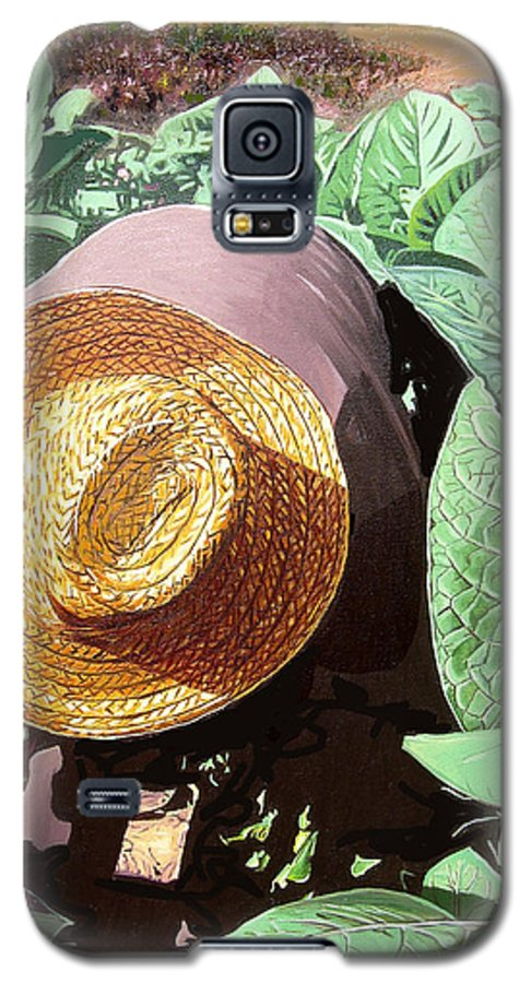 Tobacco Galaxy S5 Case featuring the painting Tobacco Picker by Jose Manuel Abraham