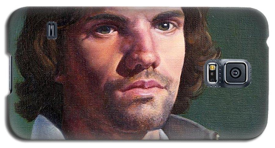 Portrait Galaxy S5 Case featuring the painting Toby by Deborah Allison